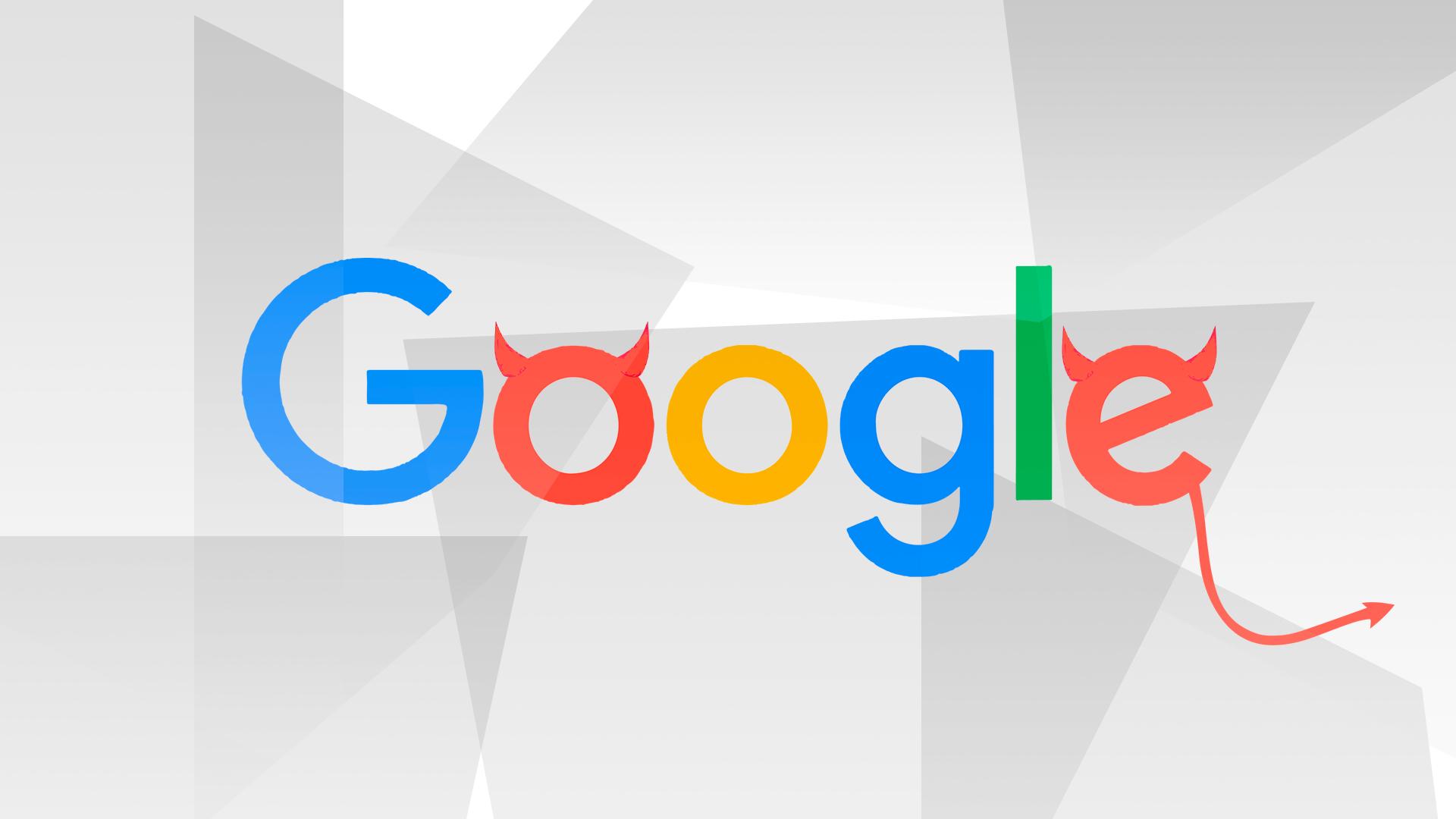 Google, Suchmaschine, Google Logo, Do No Evil, Google Evil, Böses Google
