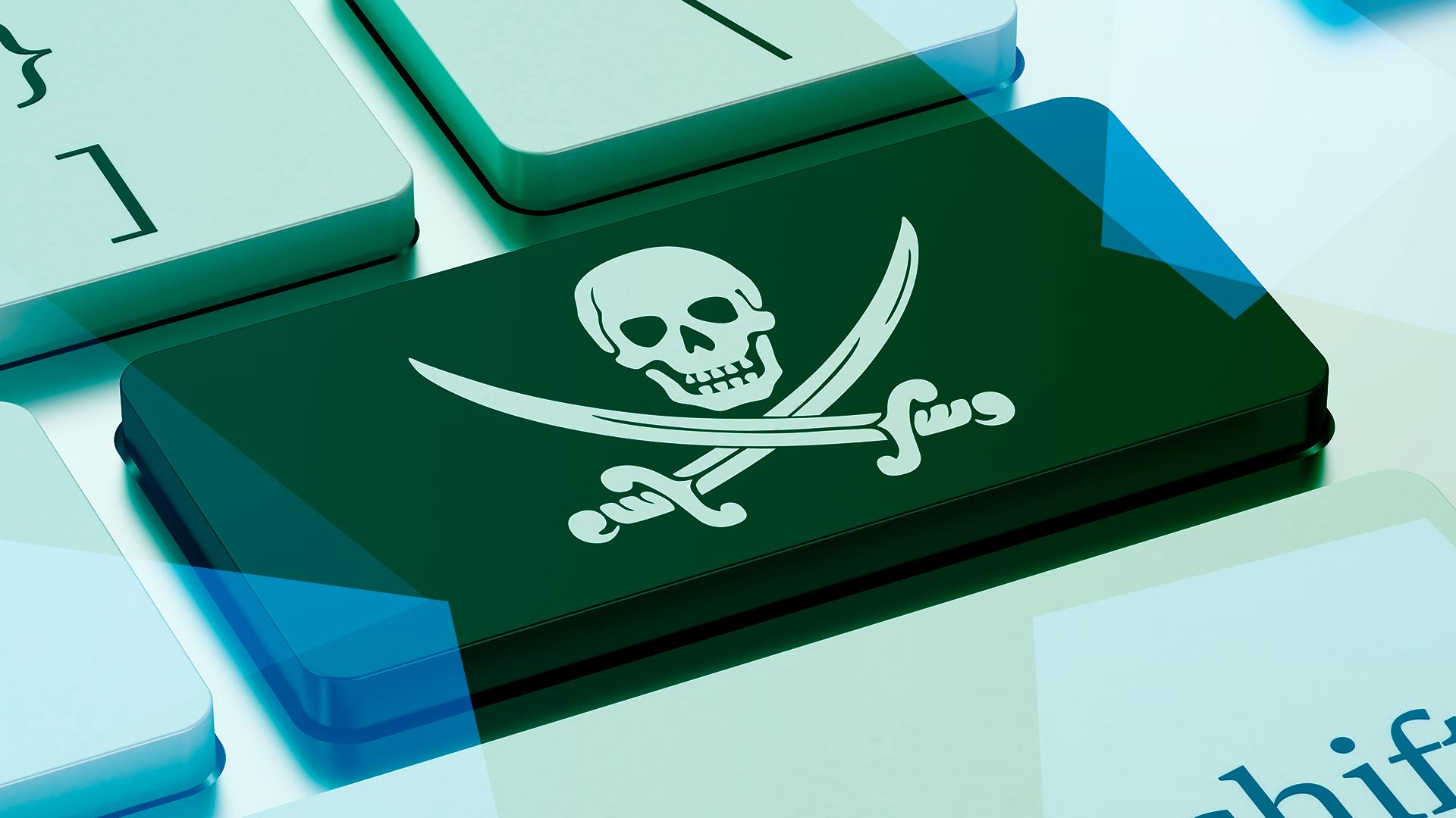Filesharing, Piraterie, Tastatur, Filesharer, Piracy, Softwarepiraterie, Totenkopf, Taste