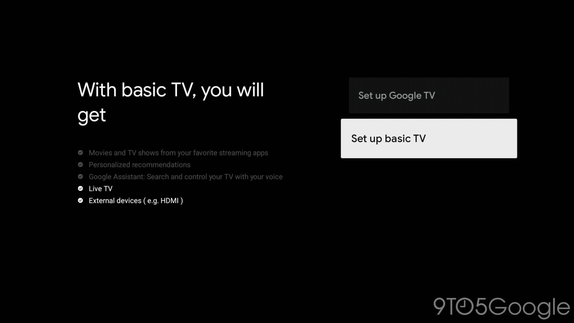 Google Tv, Android TV, Basic Mode