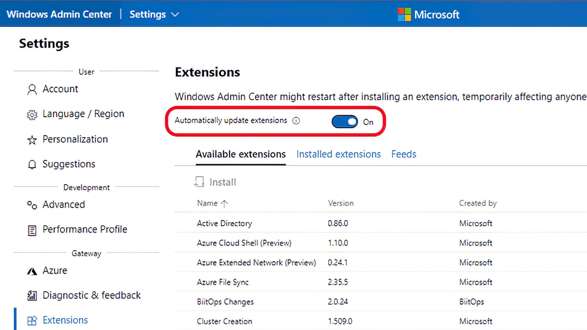 Microsoft, Windows, Admin, Administration, Windows Admin Center, Windows Admin Center 2103