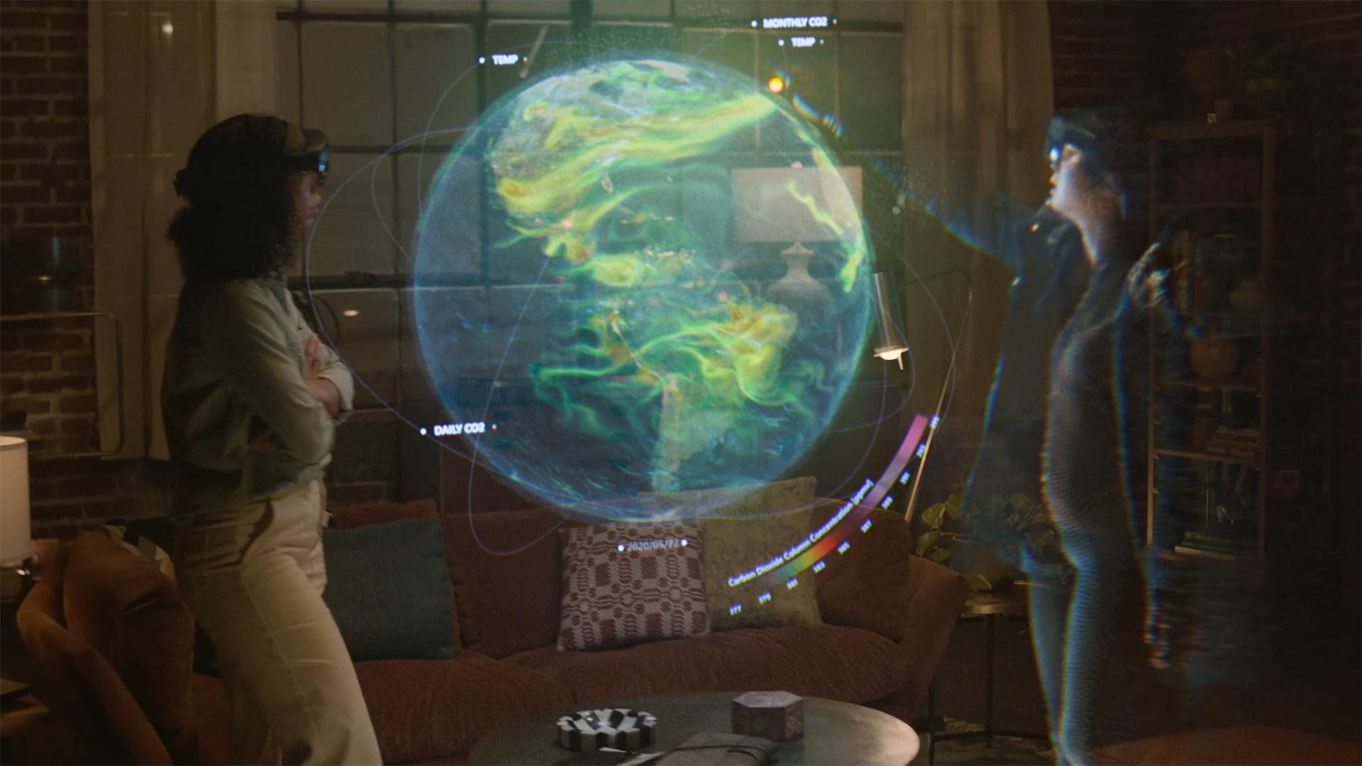 Microsoft, Virtual Reality, VR, Augmented Reality, Headset, HoloLens, Mesh, AR, Microsoft Teams, Mixed Reality, Hologramm, Dynamics 365, Microsoft Ignite 2021