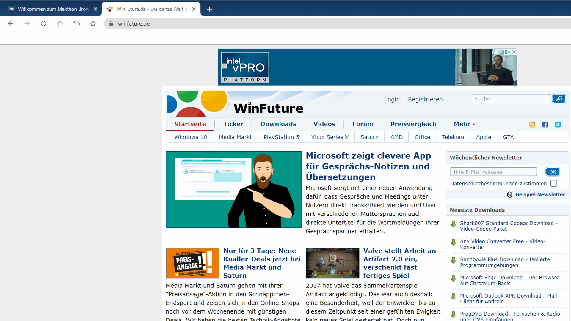 Browser, Maxthon, Blockchain