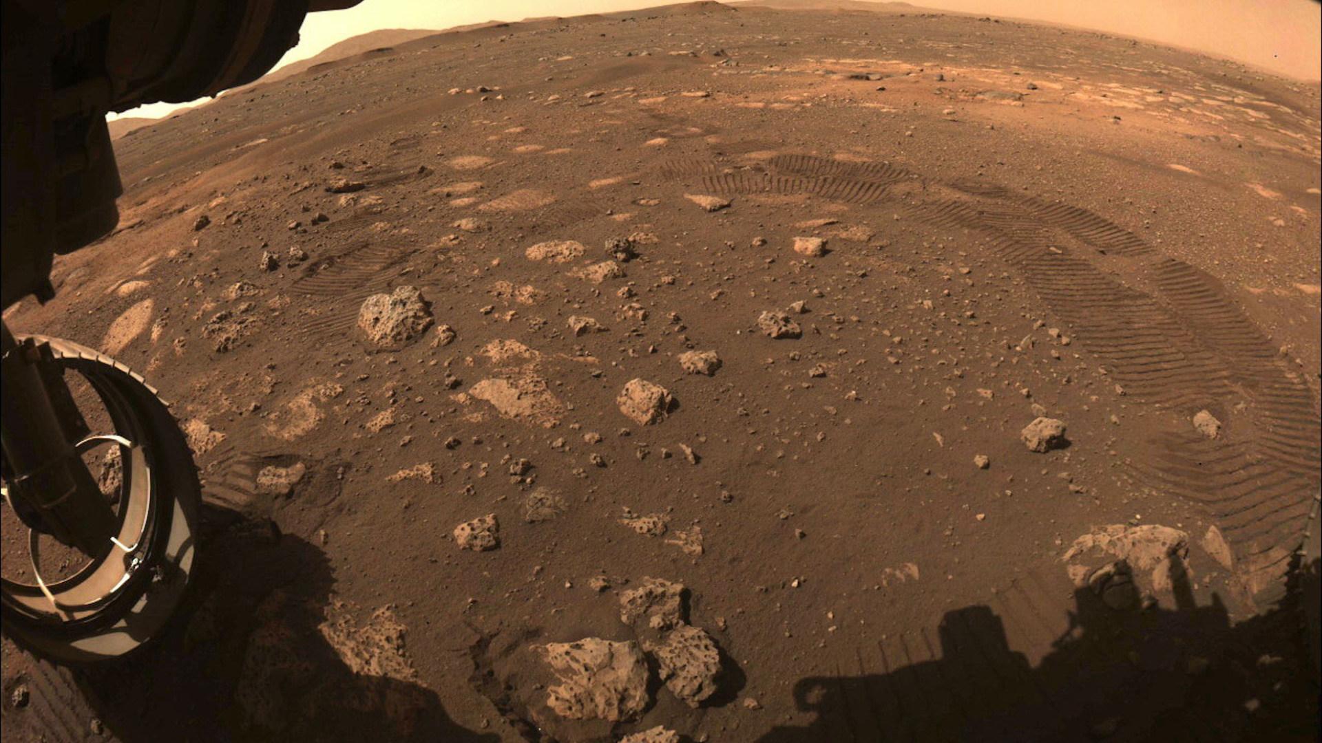 Nasa, Oberfläche, Mars, Aufnahme, Mars-Rover, Perseverance