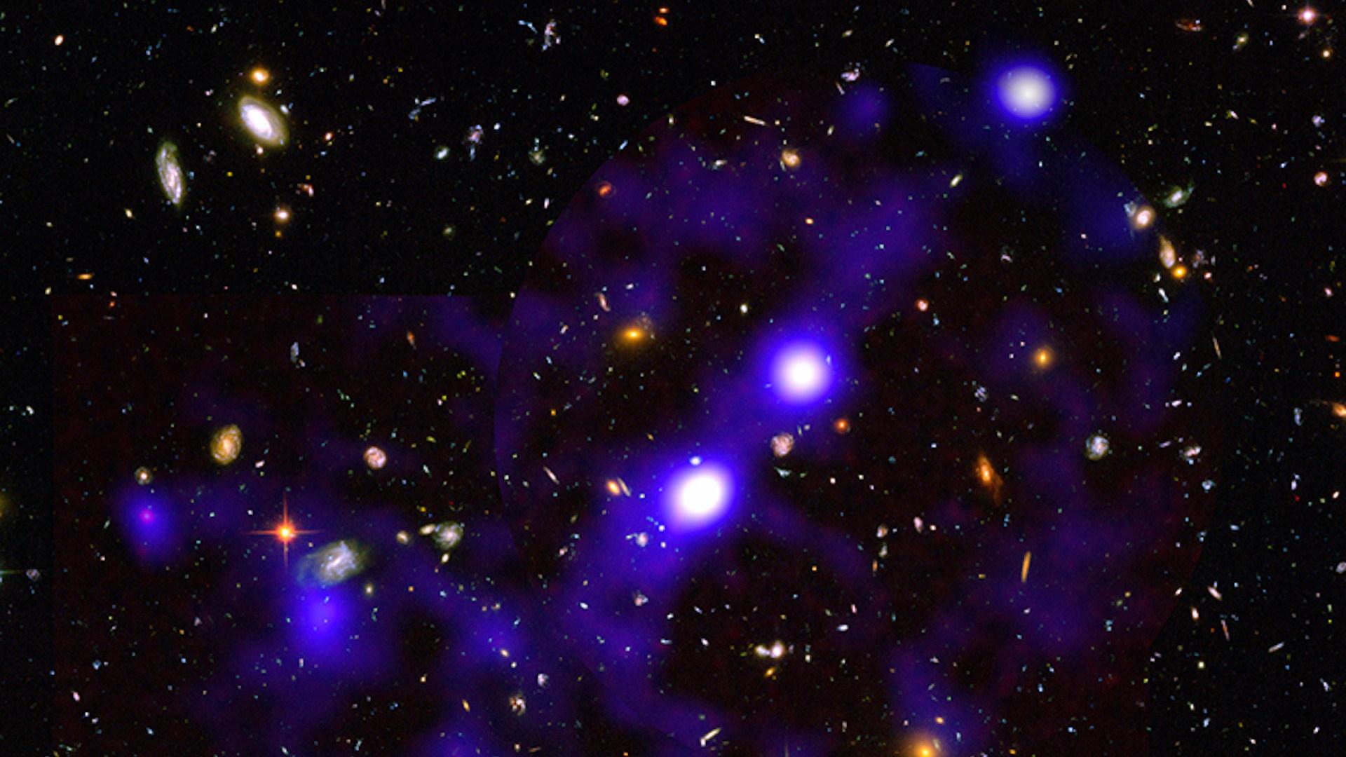 Weltall, Sterne, Galaxie, universum, Filament