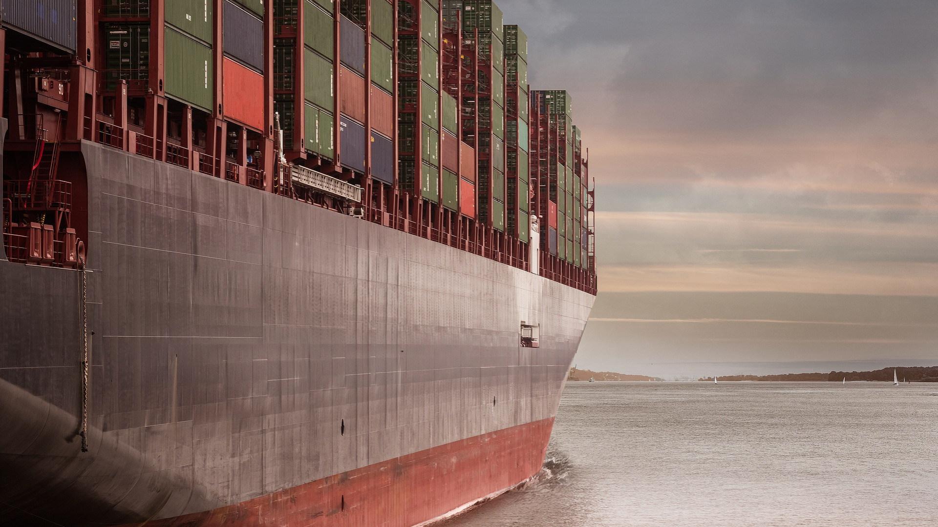 Handel, Schiff, Meer, Container, Handelsschiff