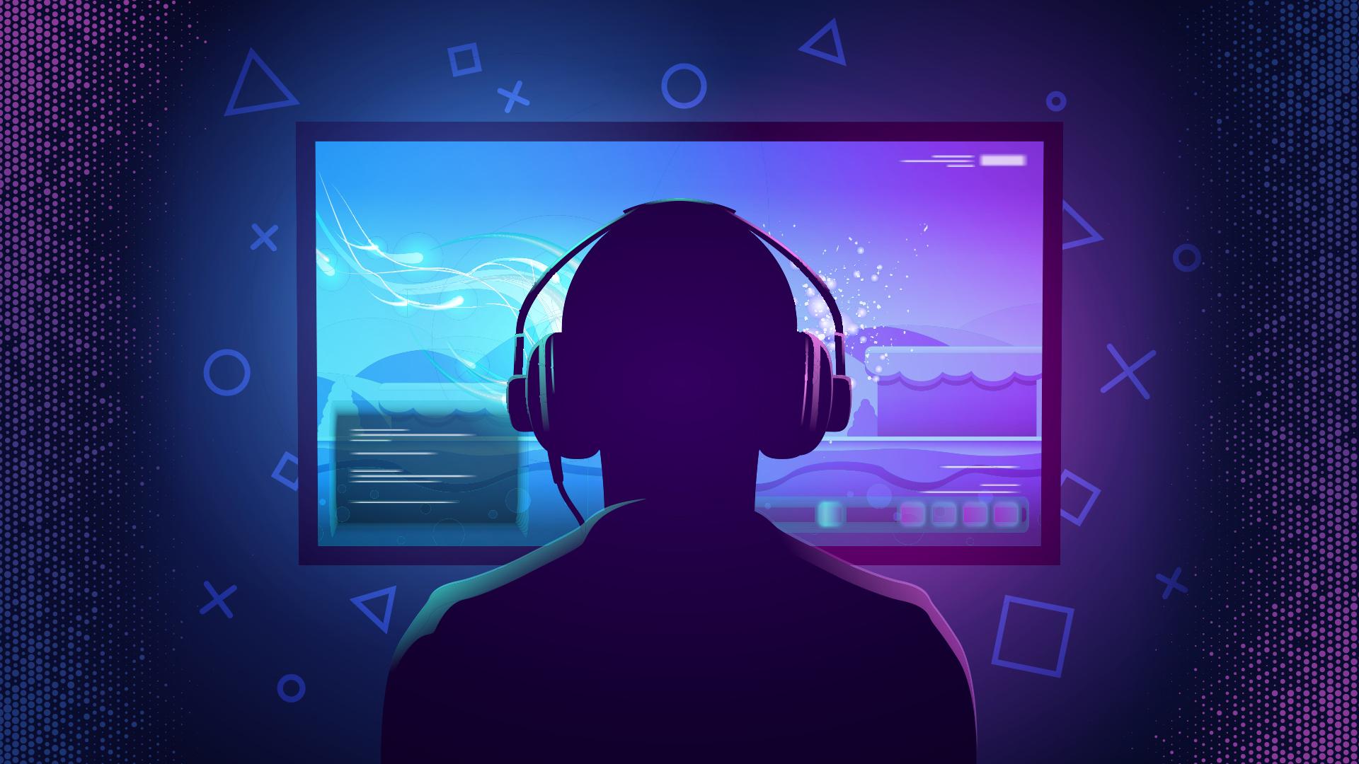 Gaming, Spiele, Konsole, Spielkonsole, Games, Tv, Fernsehen, Playstation, Konsolen, Spielekonsole, Fernseher, Spielekonsolen, Computer, Bildschirm, Controller, Kopfhörer, 4K, Monitor, TV-Gerät, Stockfotos, Gamepad, Gamer, 8K, Sony Playstation, Entertainment, Profi-Gamer, Unterhaltung, Tunnel, nerd, Computerspieler, Overear