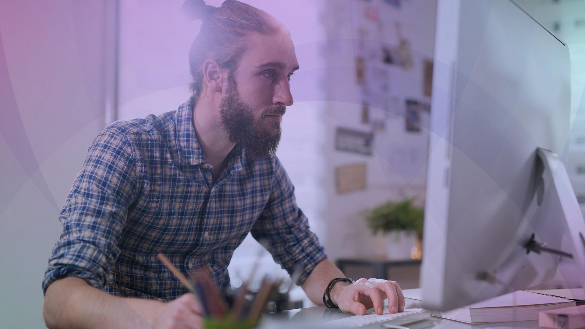 Wirtschaft, Display, Office, Entwickler, Computer, Bildschirm, Mac, Monitor, Stockfotos, Büro, Mann, Selbstständig, Boss, Freelancer, Grafiker, Unternehmer, Desginer, Selbststäniger, bildschirmarbeit