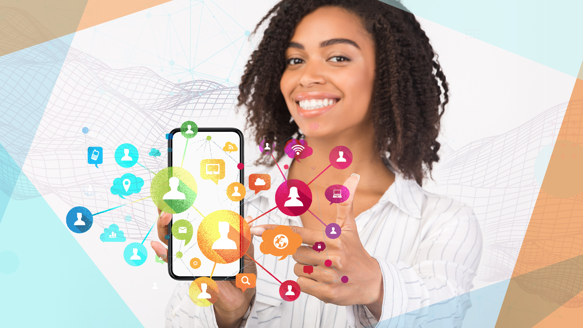 Smartphone, Smartphones, Mobilfunk, Social Network, Messenger, Handy, soziales Netzwerk, Chat, Kommunikation, Instant Messaging, Telefonie, Telefon, Telekommunikation, Telefonieren, Kontakte, Frau, Netzwek