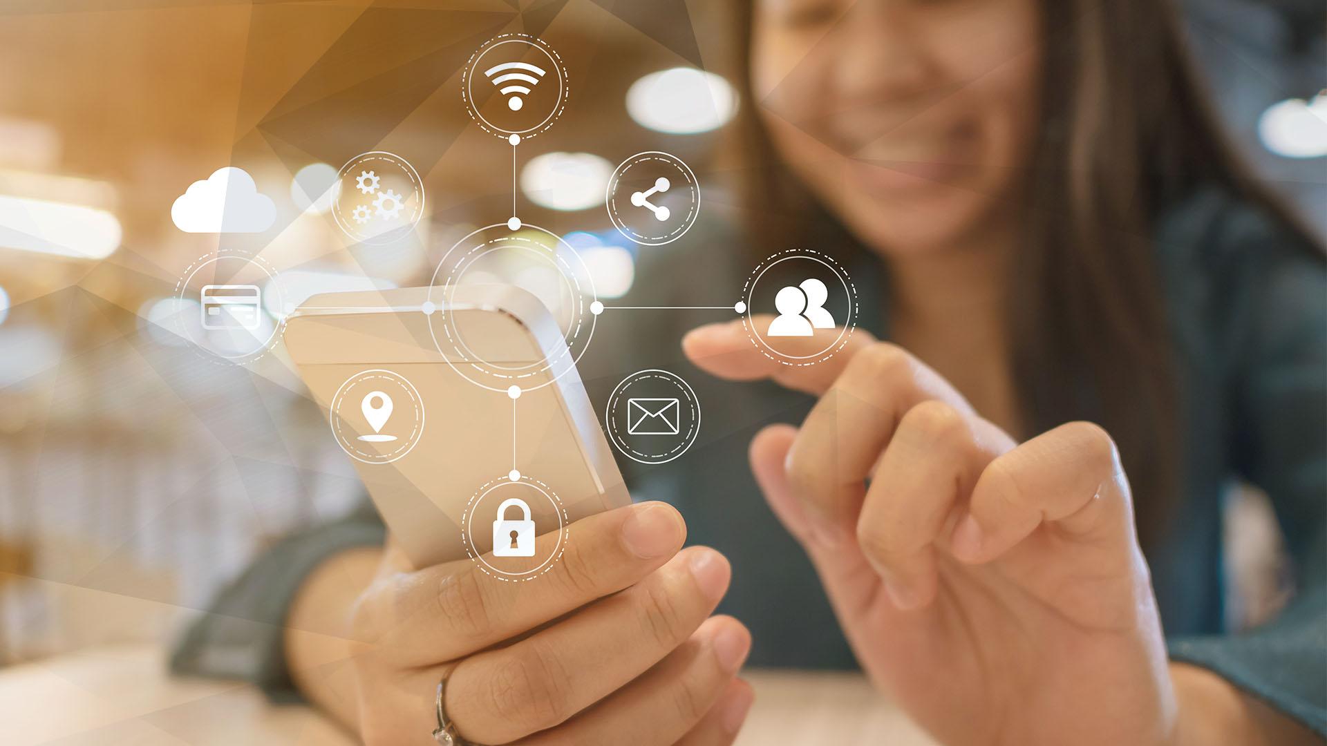Smartphone, Smartphones, Mobilfunk, Handy, Wlan, Telefonie, Telefon, WiFi, Wireless, Telekommunikation, Telefonieren, Hotspot, Kontakte, Wlan Hotspot, Frau, Teilen, Hände, Wireless LAN, WifiSpot, Share