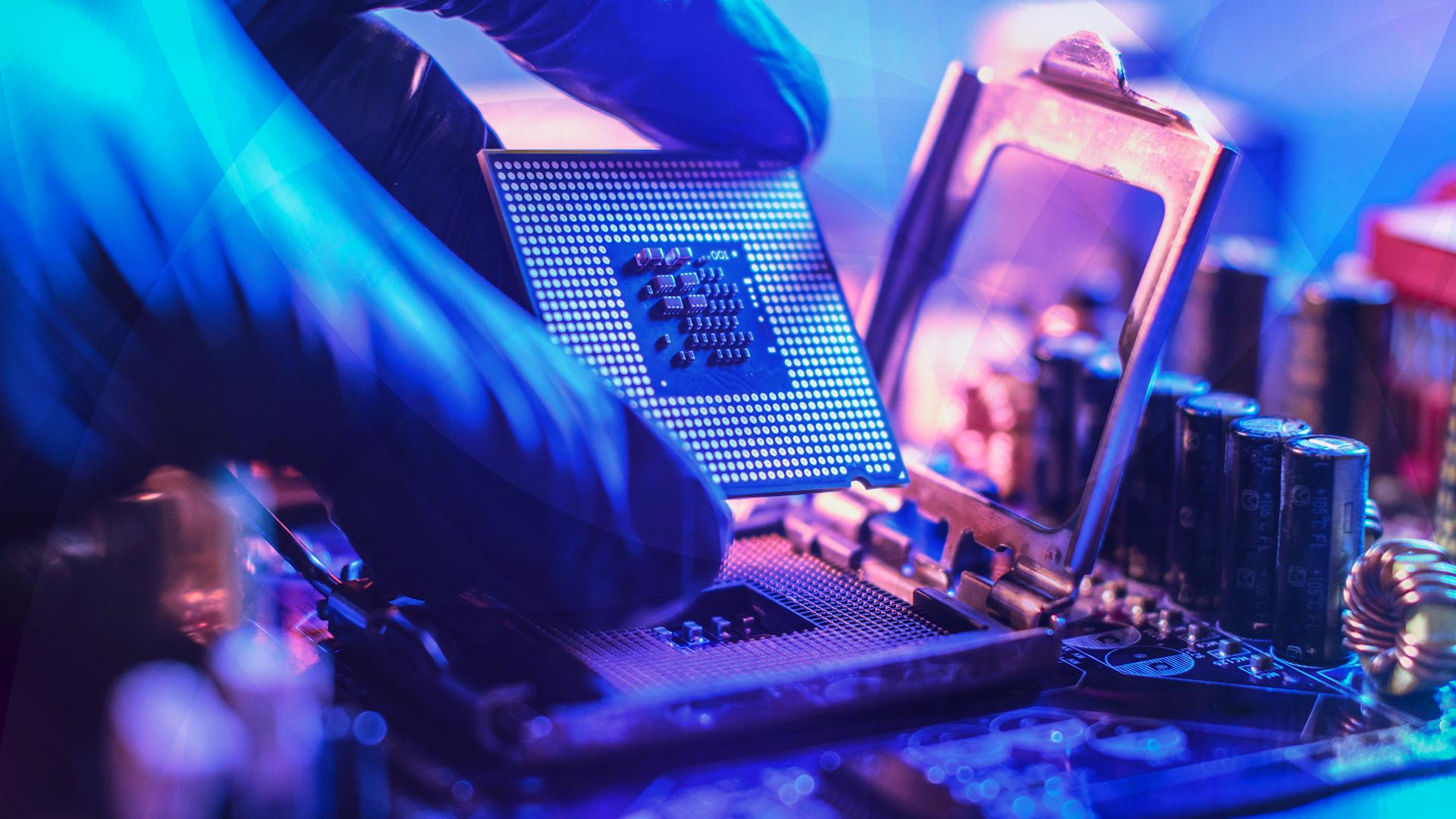 Prozessor, Cpu, Chip, SoC, Hardware, Gpu, Prozessoren, Chips, Mainboard, Nanometer, System On Chip, Motherboard, Platine, Leiterplatte, Kondensator, Kondensatoren