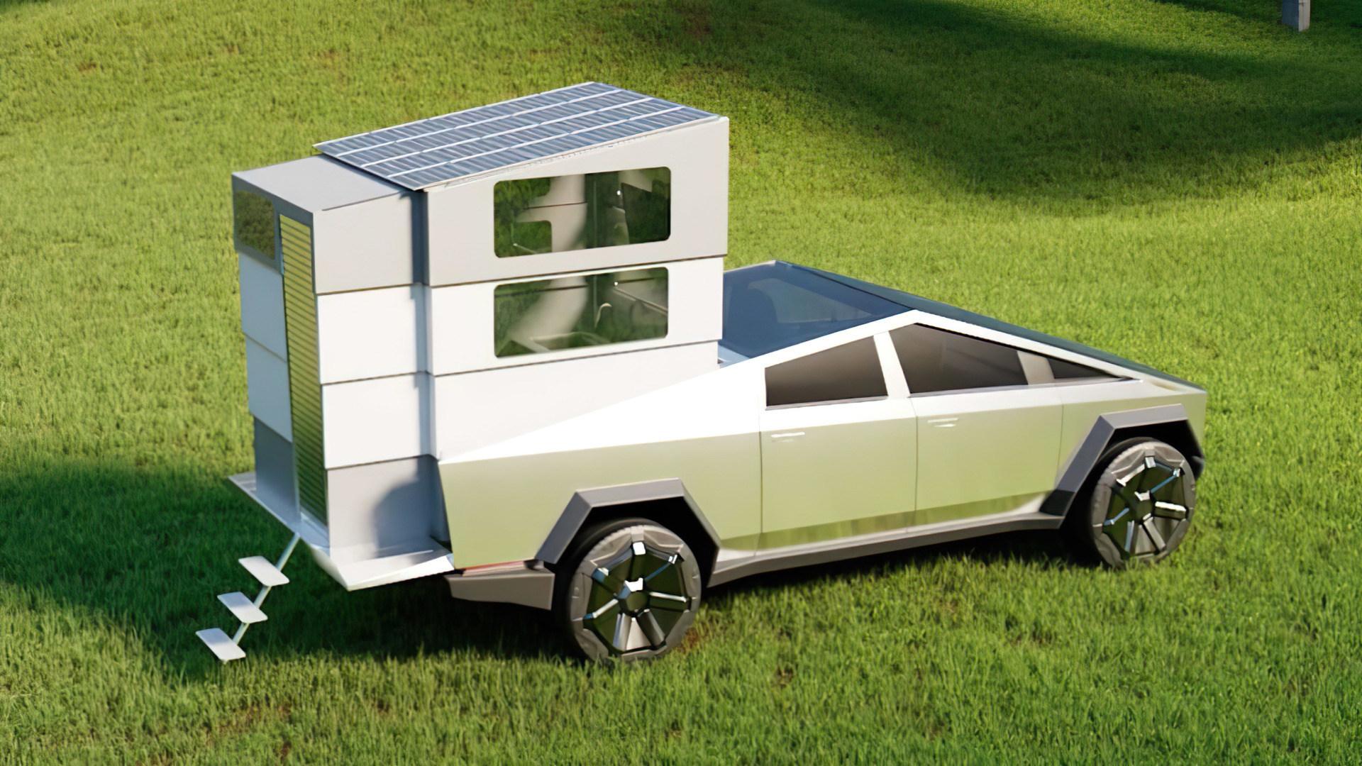 Cyberlandr: So sieht ein Camper-Konzept für Teslas Cybertruck aus