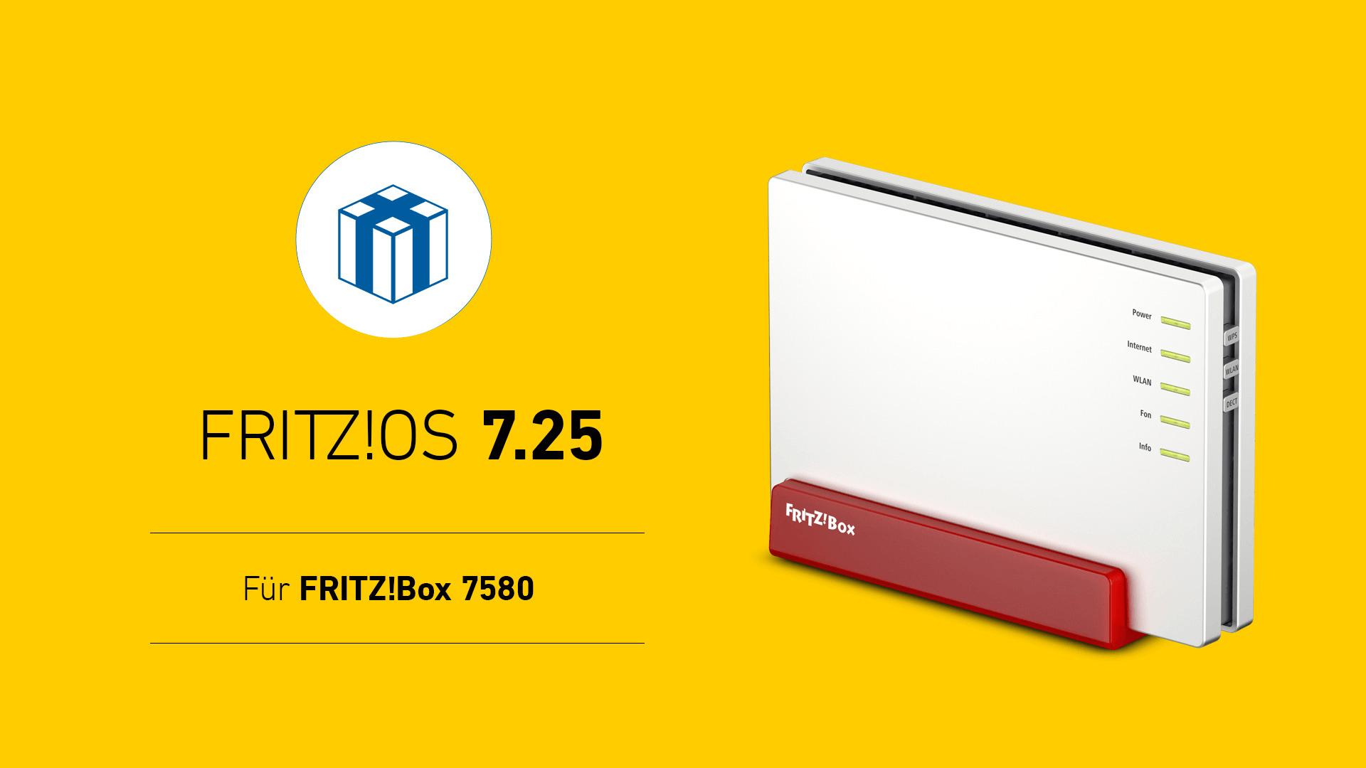Update, Software, Patch, Aktualisierung, Router, Avm, Firmware, Fritzbox 7580, FritzOS 7.25, Fritz!OS 7.25