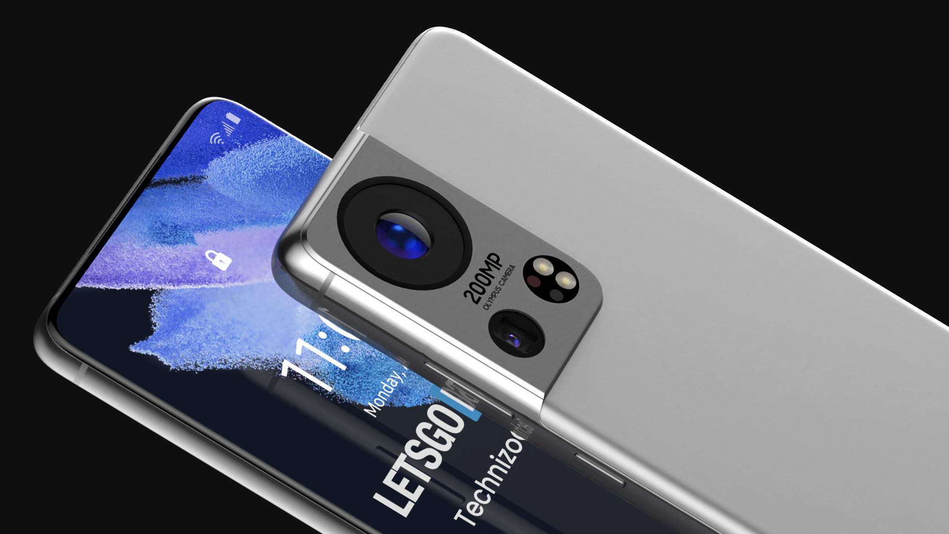 Samsung, Smartphones, Gerüchte, Leaks, Konzept, Renderbilder, Rendering, Olympus, galaxy S22, 200 Megapixel, 200 MP