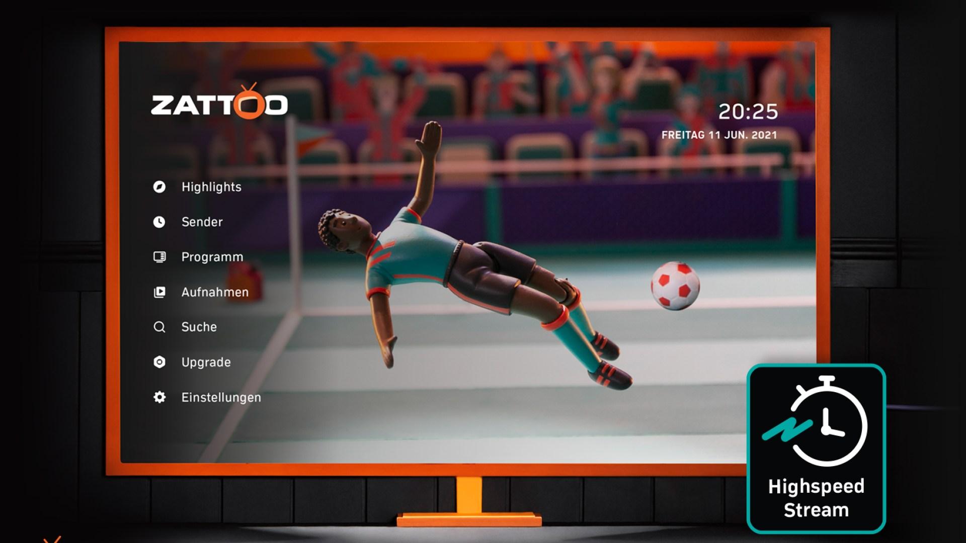 Streamingportal, Videostreaming, Fußball, Zattoo