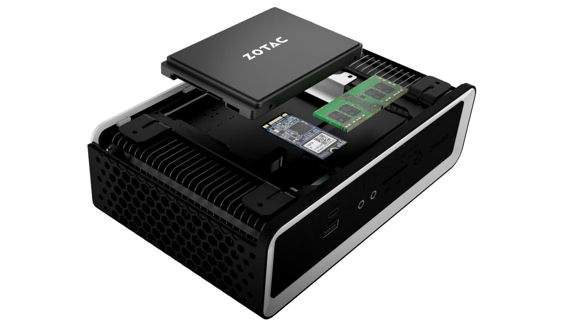 Pc, Intel, Desktop, mini-pc, Desktop-PC, NUC, Kleinst-PC, Mini-Desktop, Zotac, Tiger Lake, Barebone, Nano, passiv, Zbox, lüfterlos, fanless, Zotac ZBox nano CI665