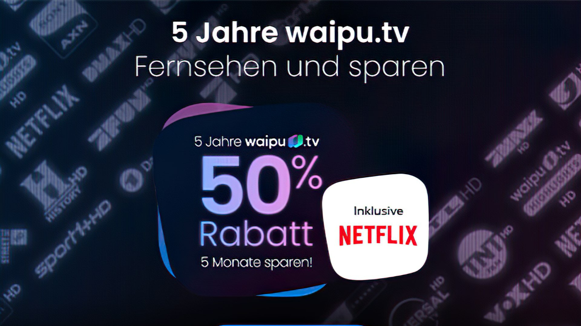 Streaming, Tv, Fernsehen, Netflix, Streamingportal, Rabatt, Waipu.tv, waipu