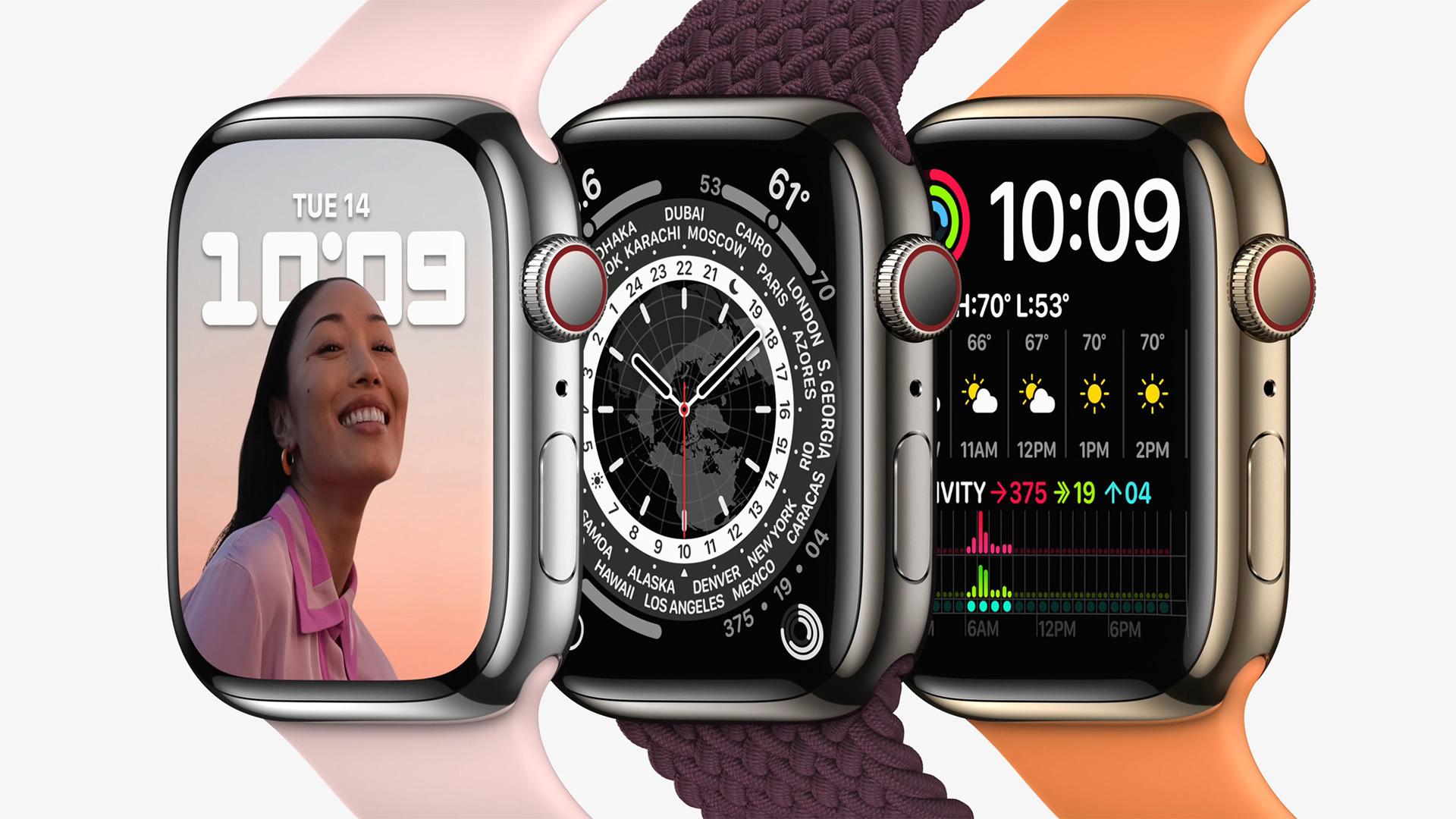Apple, smartwatch, Uhr, Wearables, Apple Watch Series 7