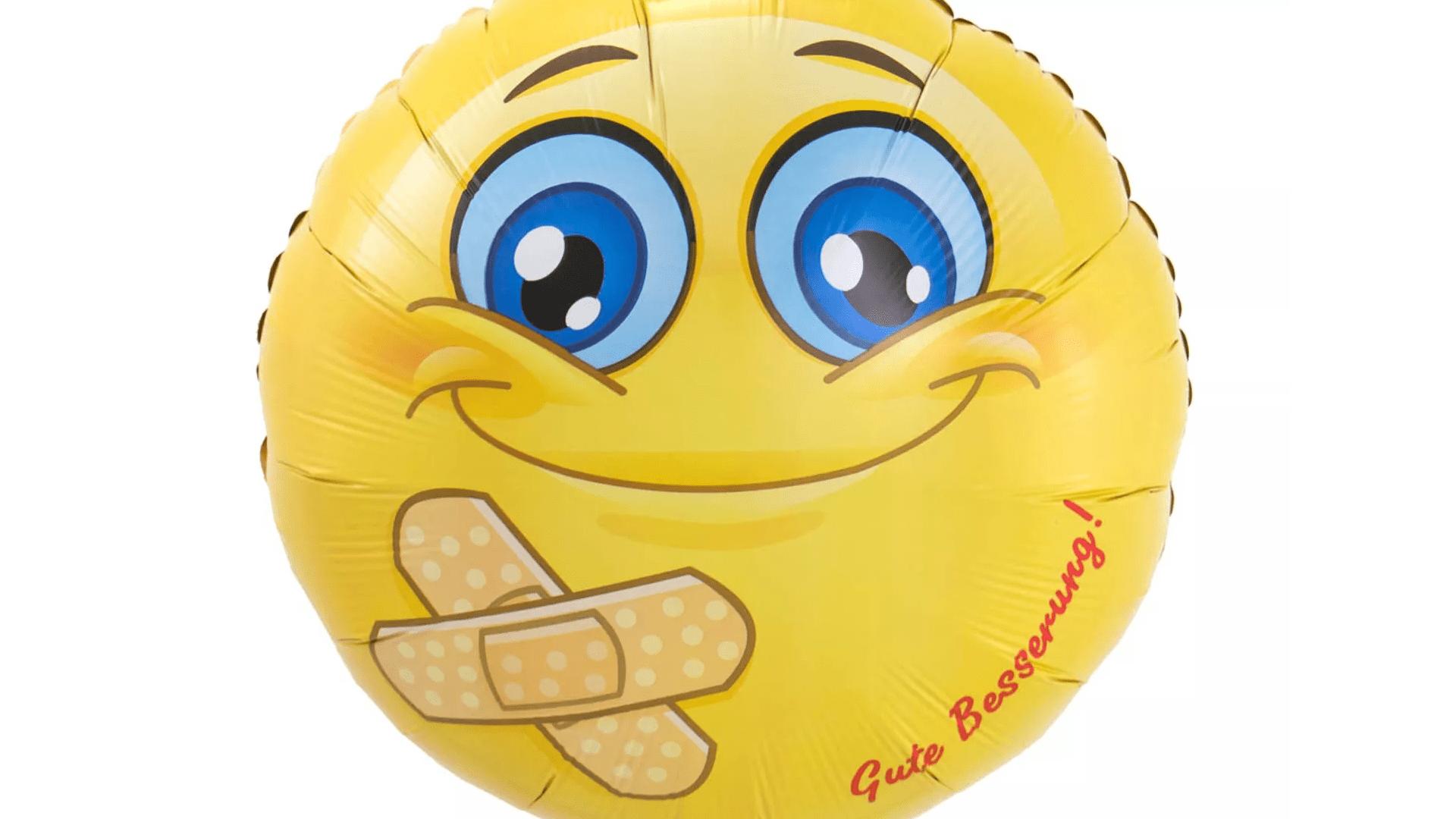 Smiley, Ballon, Pflaster, Folienballon, Gute Besserung