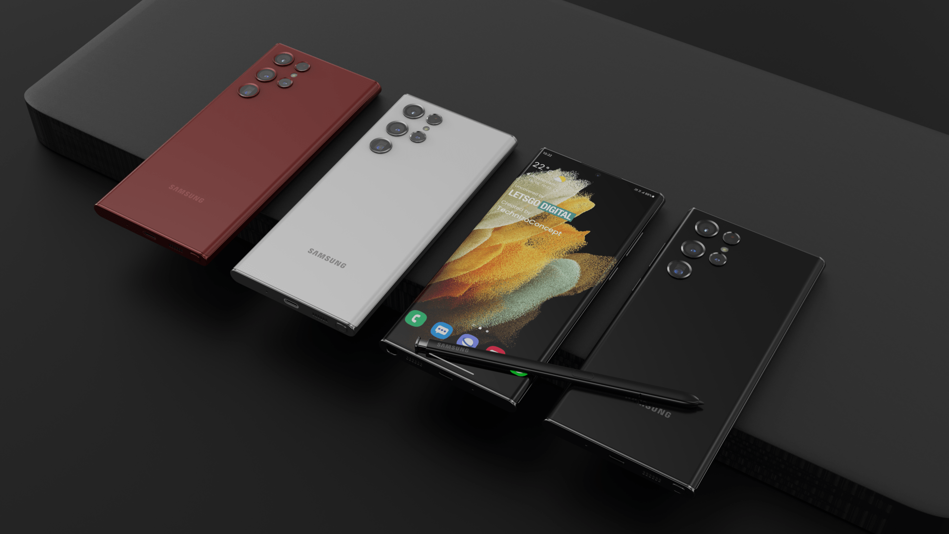 """Samsung Galaxy S22 Ultra soll """"Wassertropfen""""-Kamera-Design haben"""