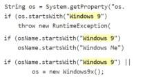 Windows 9 musste angeblich wegen Codes ausgelassen werden