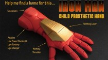 Mit Laser: Iron Man-Prothese aus dem 3D-Drucker soll Kindern helfen
