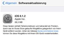 iOS 8.1.2: Software-Update bringt unter anderem Klingelt�ne zur�ck