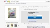 �ber 100.000 $ - Rekordgebot f�r seltenes NES-Spiel 'Stadium Events'