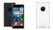 Lumia 830 Special Edition, Schwarz oder Wei� mit Goldrand verf�gbar
