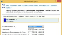 Paragon Partition Manager 2014 Free - Partitionen verwalten