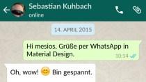 WhatsApp nun als runderneuerte Material Design-Version verf�gbar