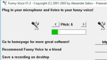 Funny Voice 1.3 - Kostenloser Stimmenverzerrer