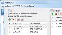 NetSetMan - Netzwerkeinstellungen verwalten