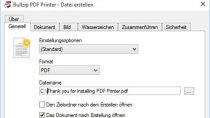 BullZip PDF Printer - PDF-Dateien erstellen
