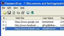 PasswordFox - Passw�rter aus Firefox auslesen