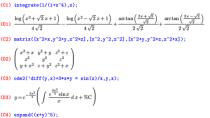 Maxima - Open Source Algebra-Softare
