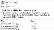 Zer0 - Dateien sicher l�schen