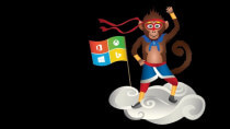 Windows Insider Program: Ninja-Monkey-Wallpaper (Jahr des Affen)