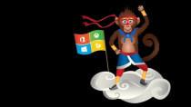 Windows Insider Program: Ninja-Monkey-Wallpaper (Jahr des Affen)