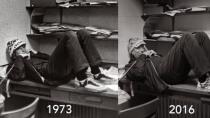 Bill Gates stellt f�r Reddit-AMA ber�hmtes Highschool-Foto nach