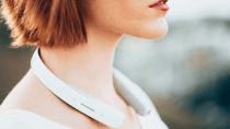 """Sony zeigt futuristische """"Kopfh�rer"""", die rund um den Nacken gehen"""