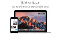 Ab heute public Beta f�r iOS 10 & macOS Sierra, so ist man dabei