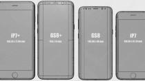 Samsung Galaxy S8 und S8+ im Größenvergleich mit iPhone 7 und Co.