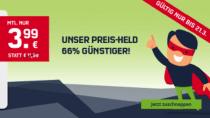 Aktionstarif: 1 GB-Flat und je 50 Freieinheiten für nur 3,99€/Monat