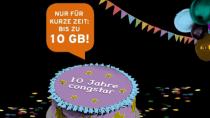 Congstar: 10 GB für 25 Euro im Geburtstagstarif - Auch Bestandskunden
