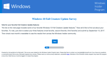 Microsoft fragt nach: Umfrage zum Windows 10 Fall Creators Update