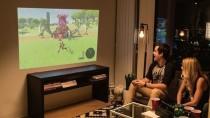 Nintendo Switch: Docking-Station OJO projiziert Spiele auf eine Wand