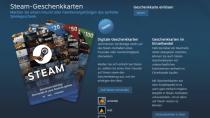 Steam-Guthaben für Freunde: Valve startet digitale Geschenkkarten
