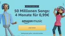 Letzter Tag: Vier Monate Amazon Music Unlimited für 99 Cent