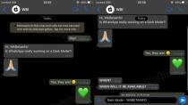 So sieht der dunkle Modus für WhatsApp für iOS aus