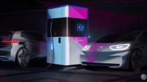 """Volkswagen kündigt """"erste Powerbank"""" für E-Autos an"""